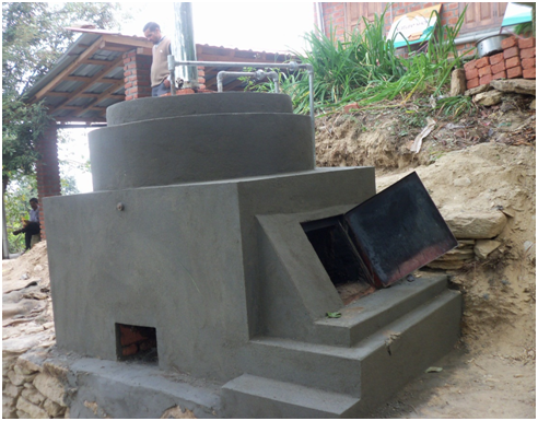 Disposal of Solid Municipal, GramPanchayat, Domestic and Hospital Biomass Waste Through use of Incinerator,  And Energy for Heating Water