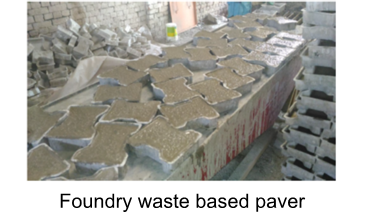 Product development for low input soil/sand: Utilization of foundry waste slag and sand in building materials(2016-17)Phase II