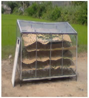 Solar drier for vegetables and herbs
