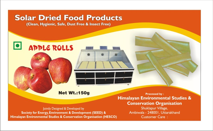 Development of Fruit Bars with Fruits Grown in Himalayan Regions for Commercial Operations in Solar Dryers and Suitable Packaging